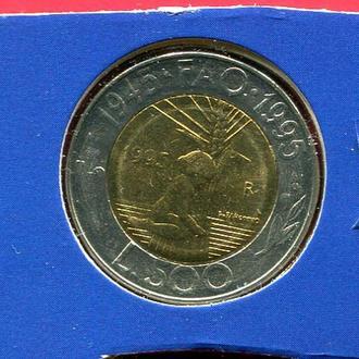 Сан Марино 500 лир 1995 UNC из набора FAO