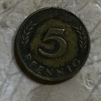 Монета - Германии 5 пфенингов ,1950 года