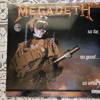LP Megadeth  So Far, So Good... So What! US  S  США  Запечатан