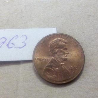 1 цент 2002 D США