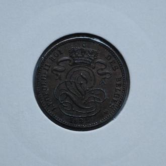 Бельгия 1 сантим 1882 г. DES, UNC
