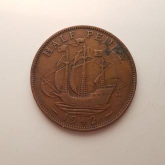 Великобритании 1/2 пенни 1942 год
