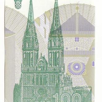 Хорватия 100 динаров 1991 UNC