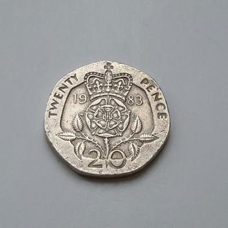 Великобритания. 20 пенсов  1983 год.