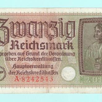 Германия 20 рейхс марок 3 Рейх