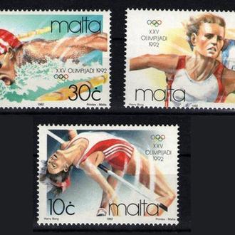 Мальта - олимпиада 1992 - Michel Nr. 890-892 **