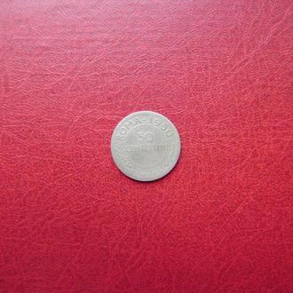Сомали 50 чентезими 1950 Редкая серебро