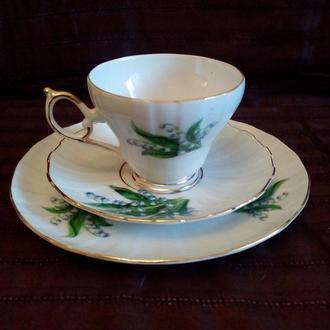 фарфоровая чайная тройка (чашка ,блюдце,десертная тарелка)