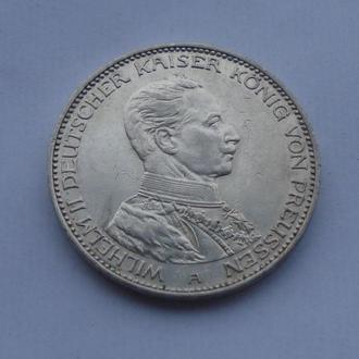 1914 г - 3 марки Германии,в мундире,серебро № 3