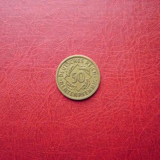 Германия. Веймар 50 рентенпфенниг 1924 А Редкая