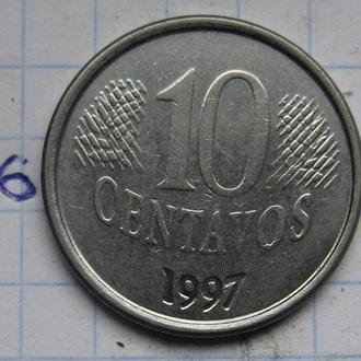 10 сентаво 1997 г. БРАЗИЛИЯ.