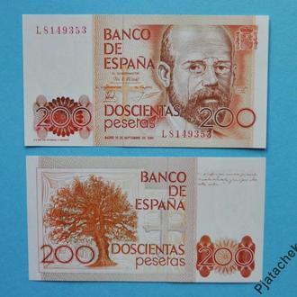 Испания 200 песет 1980 г. Р-156  UNC
