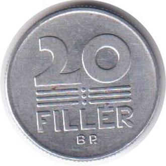 Венгрия 20 филлер 1988
