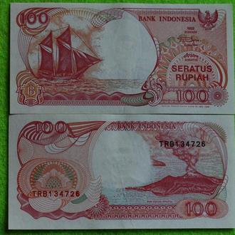 Индонезия 100 рупий 1992 UNC