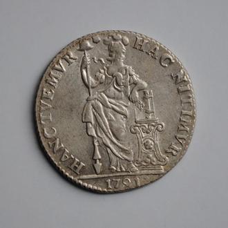 Нидерланды (Утрехт) 1 гульден 1791 г., UNC, 'Голландская Республика (1701 - 1794)'
