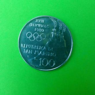 100 лир 1980 Сан-Марино