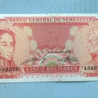 5 боливаров 1989 год Венесуэла