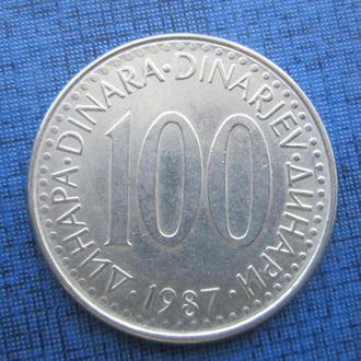 монета 100 динаров Югославия 1987