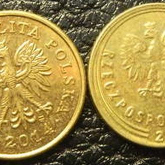 1 грош Польща 2014 (два різновиди)