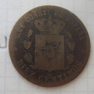 ИСПАНИЯ. 5 сантимов 1879 г. (АЛЬФОНС 12-й).