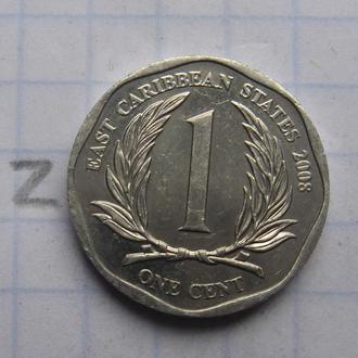 ВОСТОЧНО-КАРИБСКИЕ ГОСУДАРСТВА, 1 цент 2008 г.