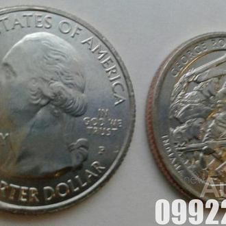"""Национальный парк США """"Парк имени Дж. Р. Кларка"""" 25 центов. 40 монета!"""