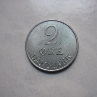 Дания 2 эре 1970 состояние в коллекцию