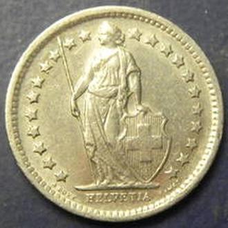 1/2 франка 1968 B Швейцарії