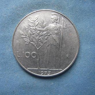 Италия 100 лир 1975 год
