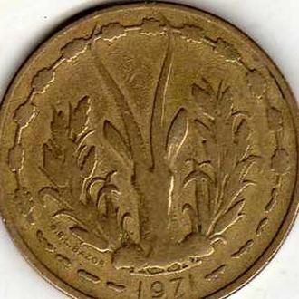 Западния Африка 25 франков 1971г