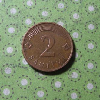 Латвия 2007 год монета 2 сантима