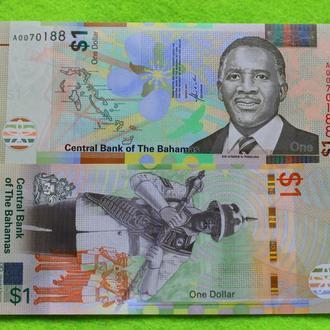 Багамы, 1 доллар, 2017 г. UNC