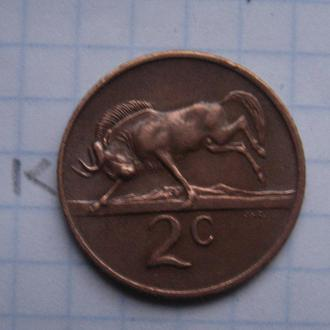 ЮАР 2 цента 1971 года (АНТИЛОПА).