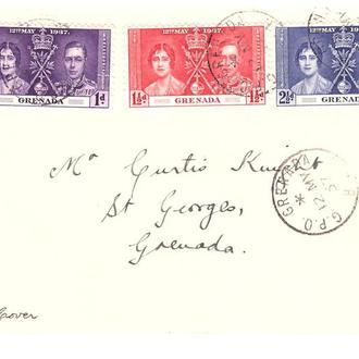 Гренада  1937 г - коверт  -  омнибус