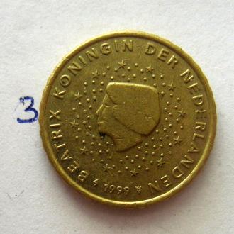 НИДЕРЛАНДЫ, 10 евроцентов 1999 г.