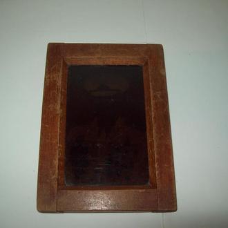 Рамка для фотоаппарата старая деревянная
