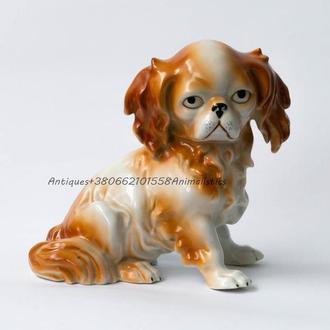 Фарфоровая статуэтка собака щенок фарфор Германия Gräfenthal
