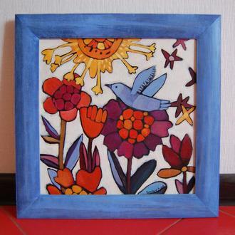"""Картина """"Під сонцем"""", 35х35, автор: Бородуля Елена."""