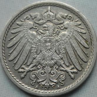 Германия 5 пфеннигов 1914 A