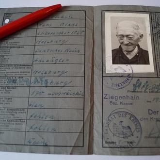 1946 ФРГ Германия Удостоверение Личности денацификация фото 06