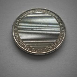 Дуже-дуже-дуже нечаста монета. Швеція. 1 крона. 2009 рік.