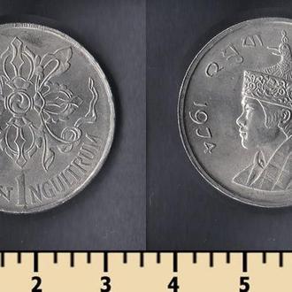 Бутан 1 нгултрум 1974