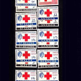 Бр. Колонии - Красный  крест  MNH  - 10 стран