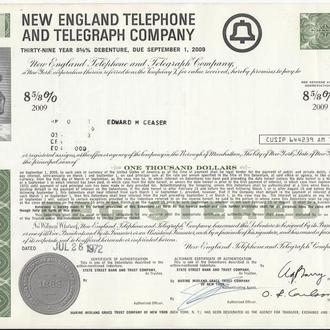 Акция NEWENGLAND TELEPHONE AND TELEGRAPH COMPANY $1000