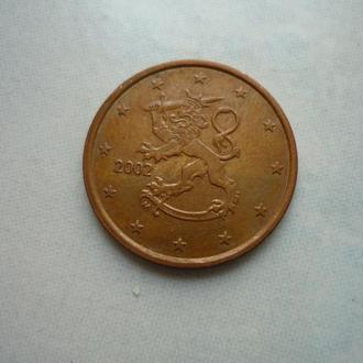 Финляндия 5 евроцентов 2002
