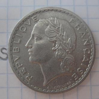 Франция. 5 франков 1947 года.