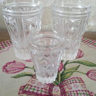 Трио. Два стакана и рюмка. Хрусталь.