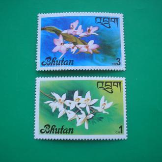 Бутан  Цветы   MNH