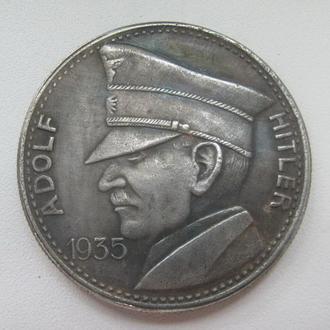 5 рейхсмарок 1935 год  А.Гитлер