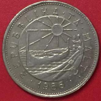 25 центов  1986 год